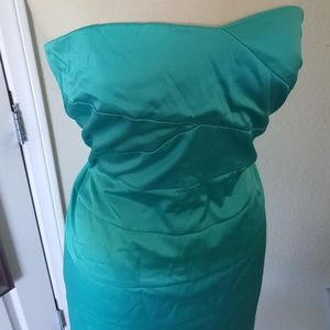 Vintage teal green strapless torrid dress 18 2x